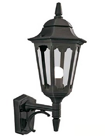 Elstead Parish Outdoor Wall Uplight Lantern Black