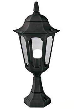 Elstead Parish Mini Pedestal Lantern Light Black