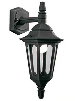 Elstead Parish Mini Outdoor Wall Light Lantern Black