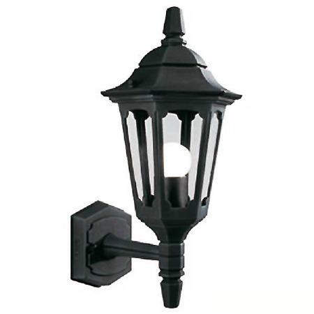 Elstead Parish Mini Outdoor Wall Uplight Lantern Black