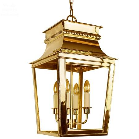 Parisienne Lantern Large Polished Brass Unlacquered