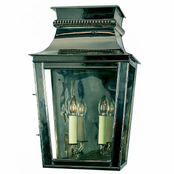 Parisienne Flush Outdoor Wall Light Large Polished Nickel