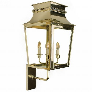 Parisienne Outdoor Wall Light Large Polished Brass Unlacquered