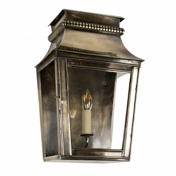 Parisienne Flush Outdoor Wall Light Small - Renovated Brass