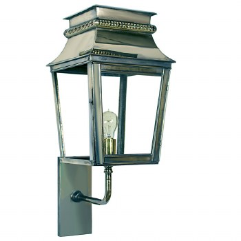 Parisienne Outdoor Wall Light Small Polished Nickel