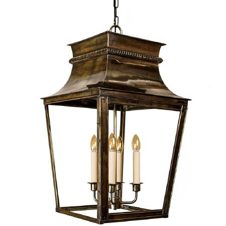 Parisienne Lantern Extra Large - Renovated Brass