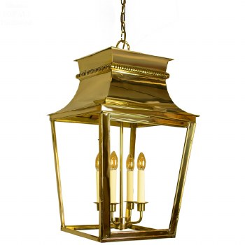 Parisienne Lantern Extra Large Polished Brass Unlacquered