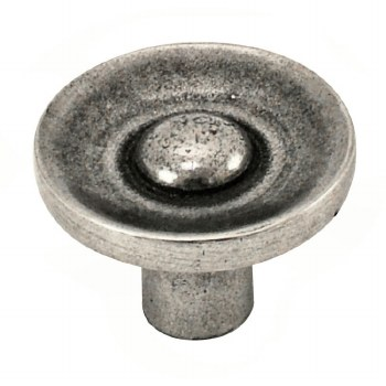 Finesse Paxton Cabinet or Cupboard Knob PCK038 Solid Pewter