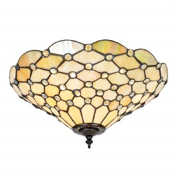 Interiors 1900 Pearl Tiffany Medium Flush Light 70242