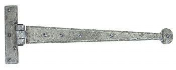 """From The Anvil Penny End T Hinges 15"""" Pewter Patina"""