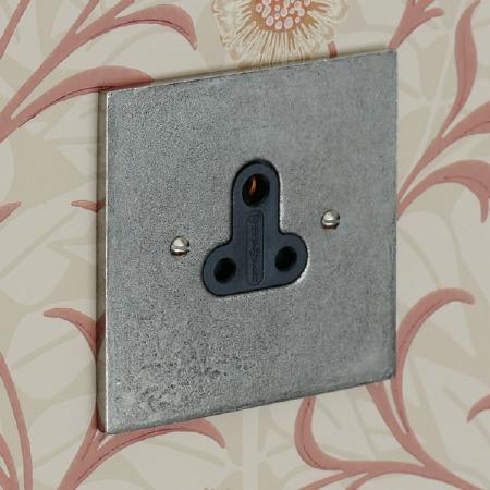 Pewter Lighting Socket Round Pin 5A