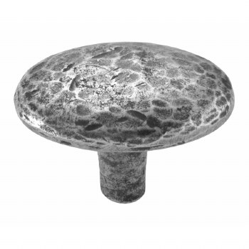 Finesse Oval Hammered Cabinet Knob 44mm PCK008 Solid Pewter