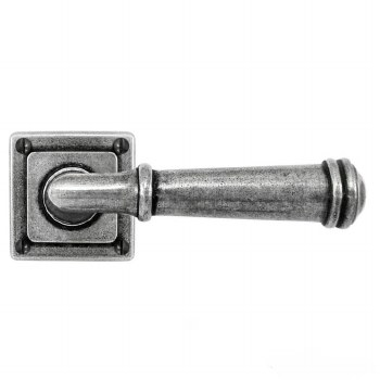Finesse Derwent Door Handles on Square Rose FD091 Solid Pewter