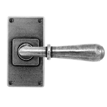 Finesse Fenwick Door Handles Jesmond Short Plate FD088 Solid Pewter