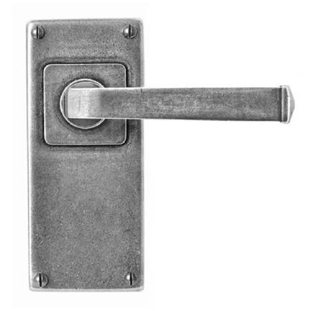 Finesse Allendale Door Handles Jesmond Plate FD115 Solid Pewter