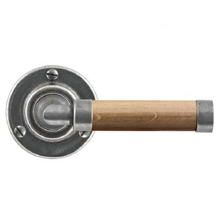 Finesse Milton Round Rose Door Handles FD137 Pewter & Oak