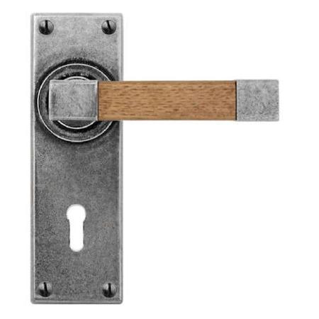 Finesse Eden Door Lock Handles FD161 Pewter & Oak