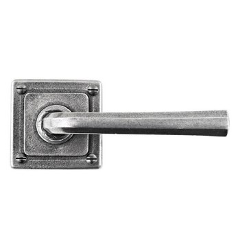 Finesse Tunstall Door Handles on Square Rose FD304 Solid Pewter