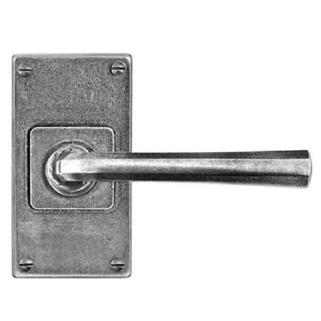 Finesse Tunstall Door Handles Jesmond Short Plate FD305 Solid Pewter