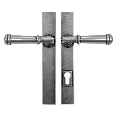 Finesse Durham Multipoint Patio Door Handles Lock Plate FDMP06 Solid Pewter