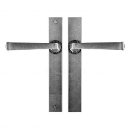 Finesse Allendale Multipoint Passage Door Handles  FDMP12 Solid Pewter