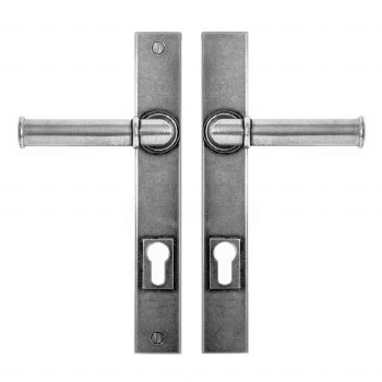 Finesse Wexford Multipoint Entry Door Handles FDMP19 Solid Pewter