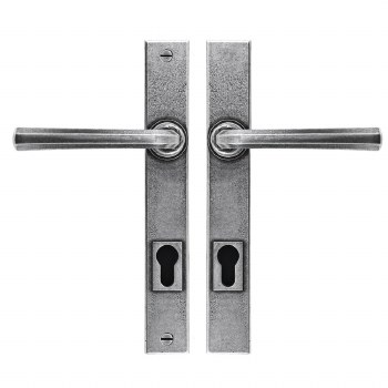 Finesse Tunstall Multipoint Entry Door Handles FDMP24 Solid Pewter
