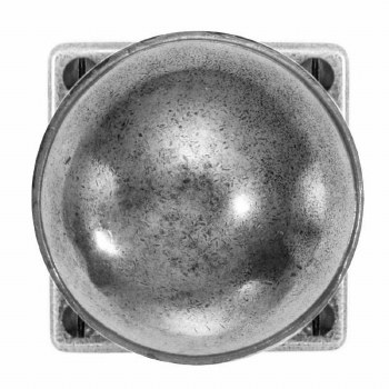 Finesse Beamish Door Knobs on Square Rose FD083 Solid Pewter