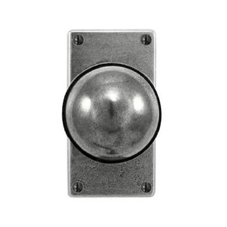 Finesse Beamish Door Knobs on Short Jesmond Plate FD084 Solid Pewter