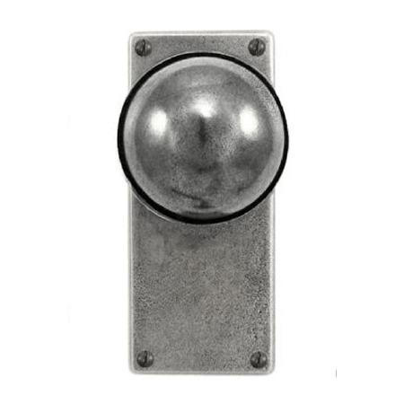 Finesse Beamish Door Knobs Jesmond Latch Plate FD118 Solid Pewter