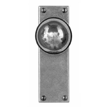 Finesse Pelton Door Knobs on Latch Plate FD173 Solid Pewter