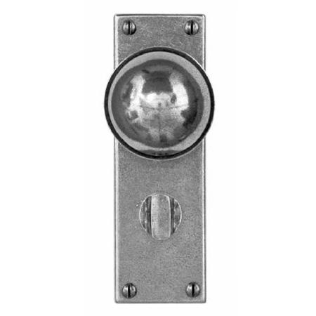 Finesse Pelton Bathroom Door Knobs FD174 Solid Pewter