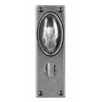 Finesse Lincoln Bathroom Door Knobs FD191 Solid Pewter