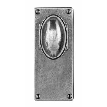 Finesse Lincoln Door Knobs Jesmond Latch Plate FD195 Solid Pewter