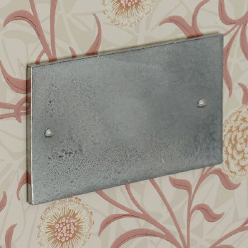 Pewter Double Blank Plate