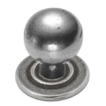 Finesse Ball Cupboard Door Knob 25mm PCK012 Solid Pewter