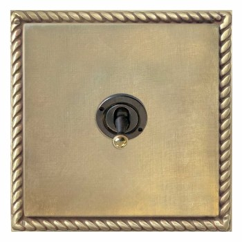 Georgian Dolly Switch 1 Gang Antique Satin Brass