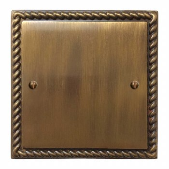 Georgian Single Blank Plate Antique Brass Lacquered