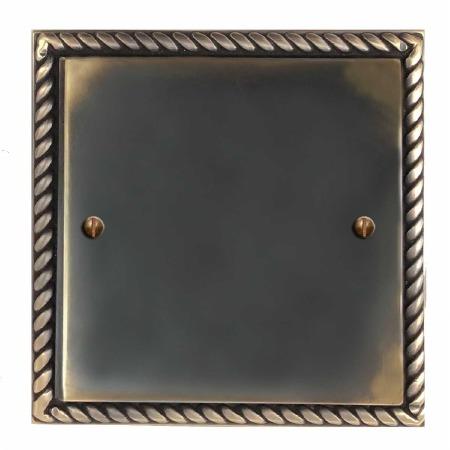 Georgian Single Blank Plate Dark Antique Relief
