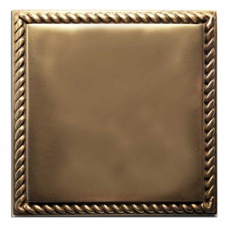 Georgian Single Blank Plate Hand Aged Brass