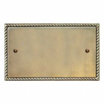 Georgian Double Blank Plate Antique Satin Brass