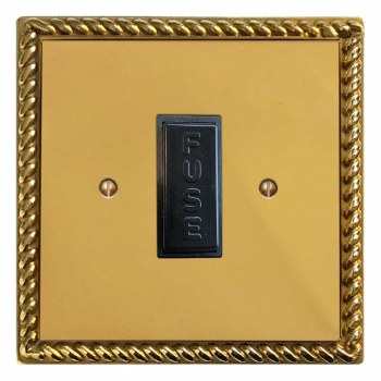 Georgian Fused Spur Connection Unit 13 Amp Polished Brass Unlacquered