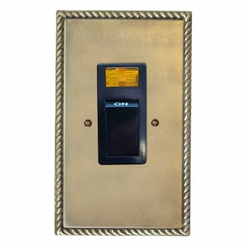 Georgian Vertical Cooker Switch Antique Satin Brass