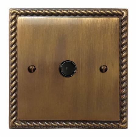 Georgian Flex Outlet Antique Brass Lacquered