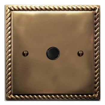 Georgian Flex Outlet Hand Aged Brass