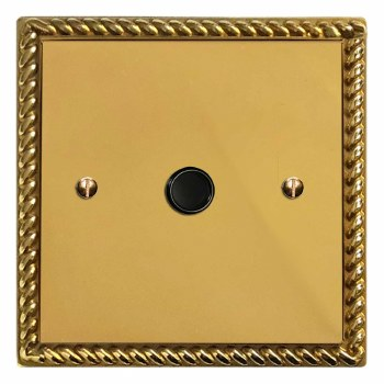 Georgian Flex Outlet Polished Brass Unlacquered
