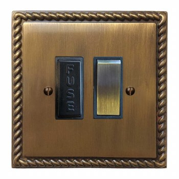 Georgian Switched Fused Spur Antique Brass Lacquered