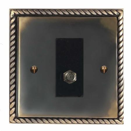 Georgian Satellite Socket Dark Antique Relief
