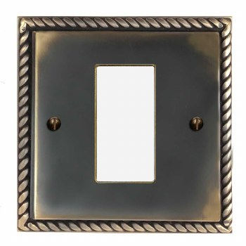 Georgian Plate for Modular Electrical Components 50x25mm Dark Antique Relief