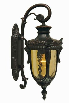 Elstead Philadelphia Outdoor Wall Light Lantern Medium, Bronze